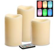 RSC - Ivory Rainbow Candle Gift Set 3pce