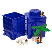 Lego - Blue Storage Brick 1 Stud