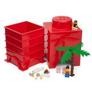 LEGO - Red Storage Brick 1 Stud