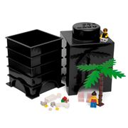 Lego - Black Storage Brick 1 Stud