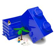 LEGO - Blue Storage Brick 2 Studs