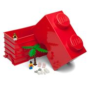 Lego - Red Storage Brick 2 Studs