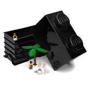 LEGO - Black Storage Brick 2 Studs