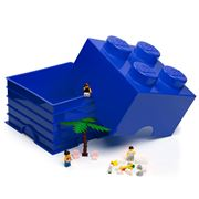 Lego - Blue Storage Brick 4 Studs