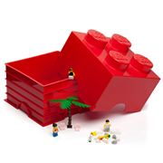 Lego - Red Storage Brick 4 Studs