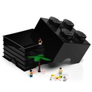 Lego - Black Storage Brick 4 Studs
