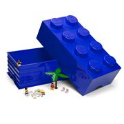 Lego - Blue Storage Brick 8 Studs