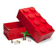 LEGO - Red Storage Brick 8 Studs