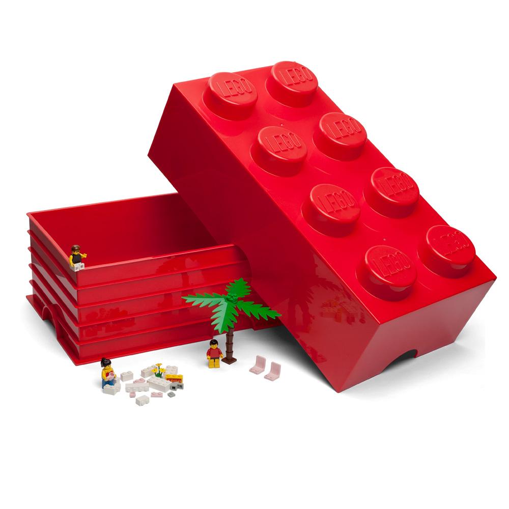 lego red storage brick 8 studs peter 39 s of kensington. Black Bedroom Furniture Sets. Home Design Ideas