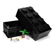 Lego - Black Storage Brick 8 Studs