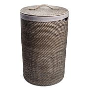 Rattan - Greywash Large Laundry Hamper