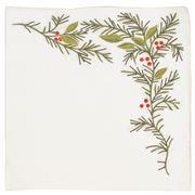 Kim Seybert - Christmas Holly Linen Napkin