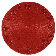 Kim Seybert - Crystal Flower Red Placemat
