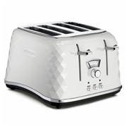 DeLonghi - Brillante White Toaster 4 Slice