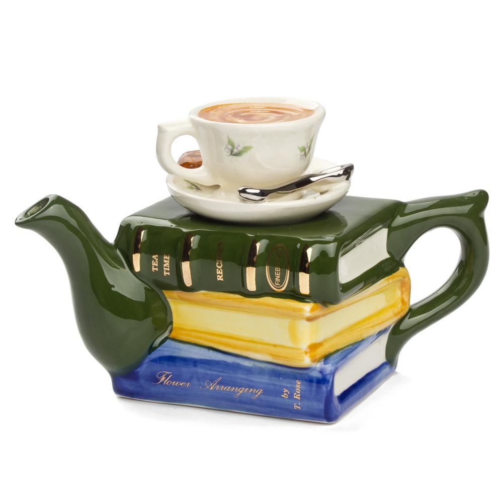 Tony Carter Books amp Tea Teapot Large