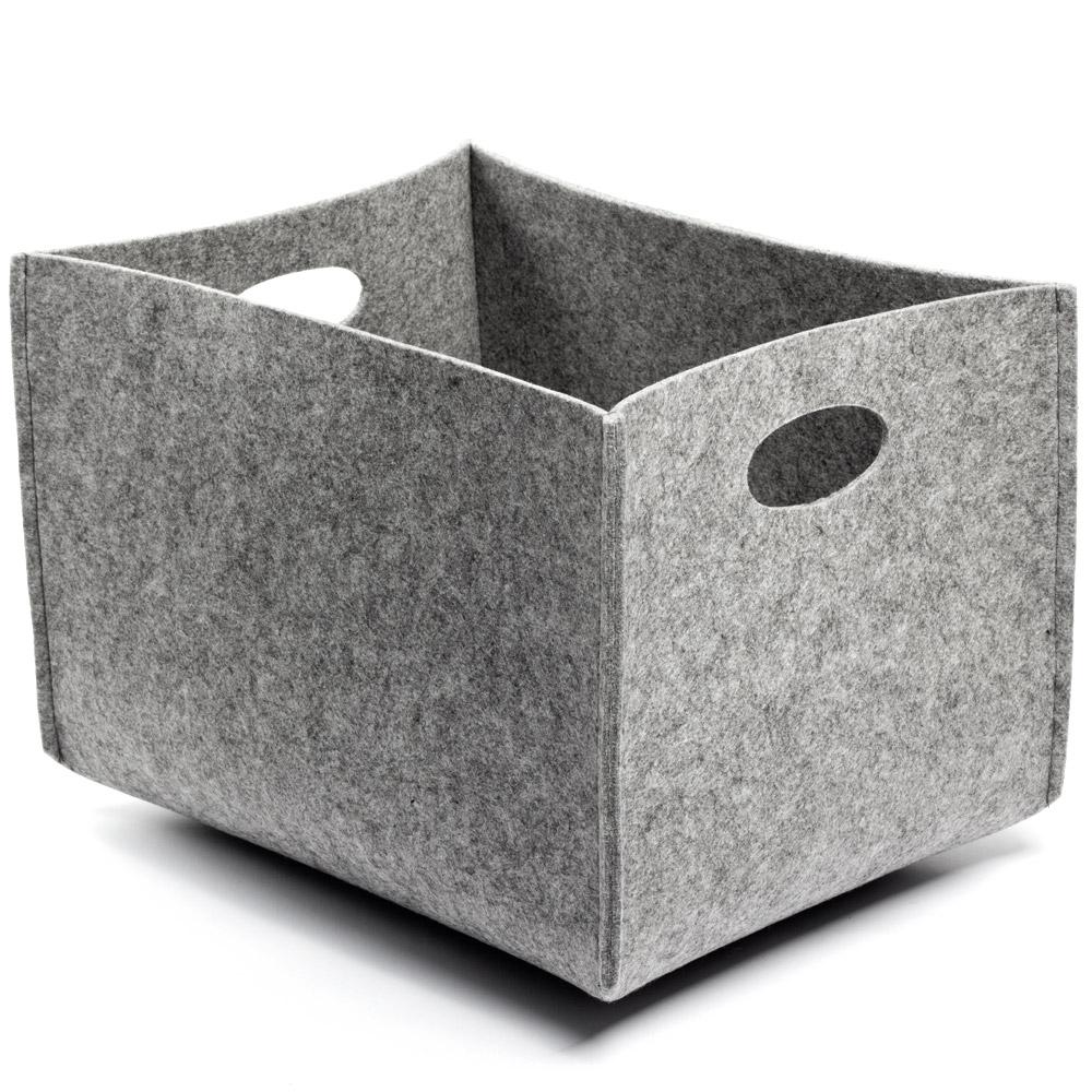 Citta Design - Grey Felt Rectangle Storage Basket Large