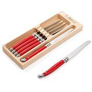 Laguiole - Debutante Red Table Knife Set 6pce