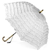 Clifton - Frilled Umbrella White
