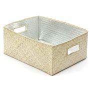 Citta Design - Silver Lined Rectangular Storage Box 32x25cm