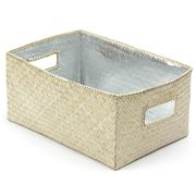 Citta Design - Silver Lined Rectangular Storage Box 29x20cm