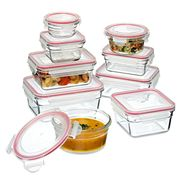 Glasslock - Tempered Glass Oven Safe Set with Lids 9pce