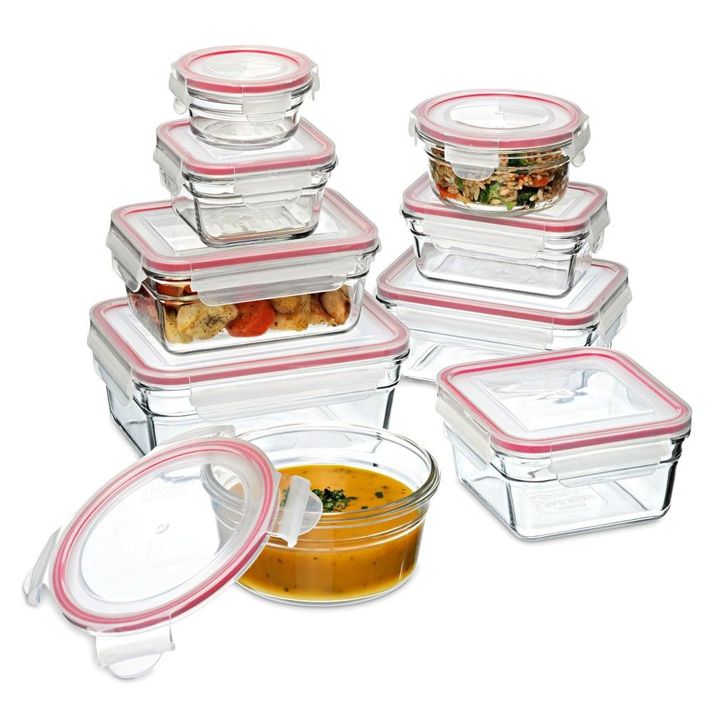 Glasslock tempered glass oven safe set with lids 9pce for Art cuisine evolution 10 piece cooking set