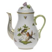 Herend - Rothschild Bird Coffee Pot with Rose