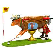 Art In The City - The Golfer Cow