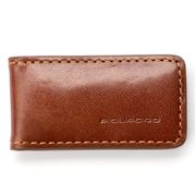 Piquadro - Brown Leather Money Clip
