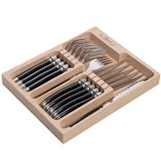 Laguiole - Debutante Black Steak Set 12pce