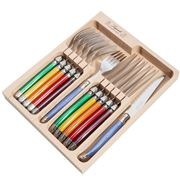 Laguiole - Debutante Multicoloured Steak Set 12pce