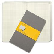 Moleskine - Cahier Large Squared Journal Set 3pce Grey