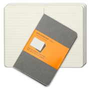Moleskine - Cahier Pocket Ruled Journal Set 3pce Grey
