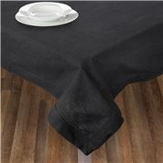 Rans - Hemstitch Black Tablecloth 150x260cm