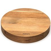 Rhubarb - Groove Round Acacia Chopping Board
