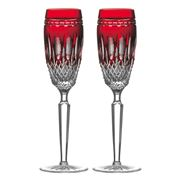 Waterford - Clarendon Ruby Flute Set 2pce