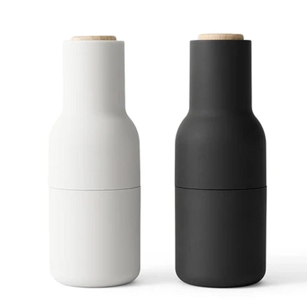 menu bottle salt pepper mill ash and carbon set 2pce. Black Bedroom Furniture Sets. Home Design Ideas