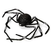 Raz Halloween - Large  Spider with Blinking Eyes Silver
