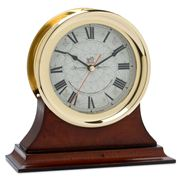 Authentic Models - Brass Ships Clock with Wood Base