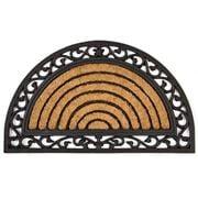 Kenware - Coir Rubber Scroll Half Round Doormat 45x75cm