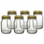Bormioli Rocco - Quattro Stagioni 500ml Jar Set 6pce