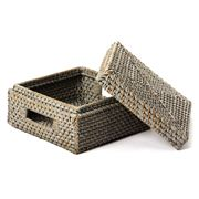 Rattan - Square Box with Lid Small