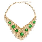 Fab - Chain Mail Necklet with Green Gem