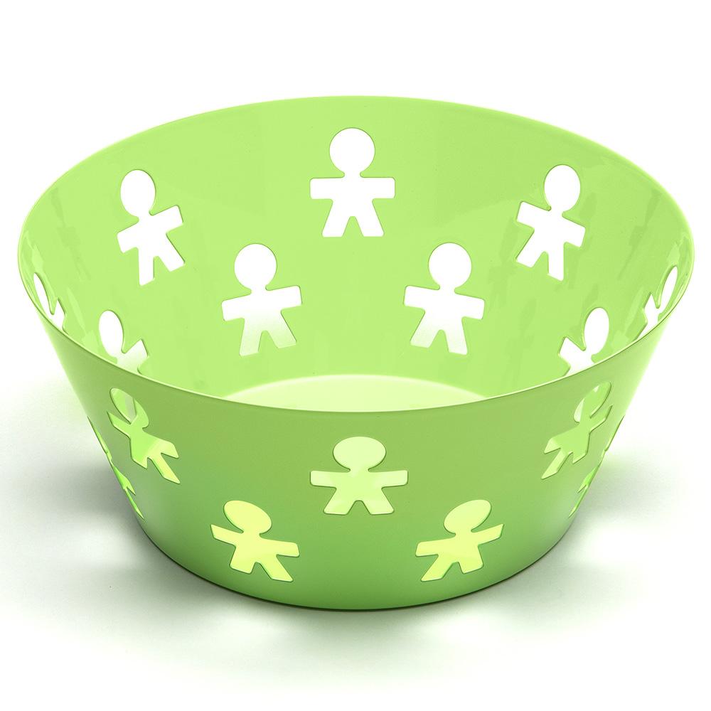 Alessi girotondo poplike medium fruit bowl green - Alessi fruit bowl ...