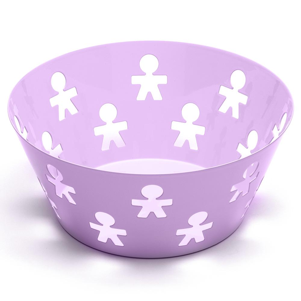 Alessi girotondo poplike medium fruit bowl violet - Alessi fruit bowl ...