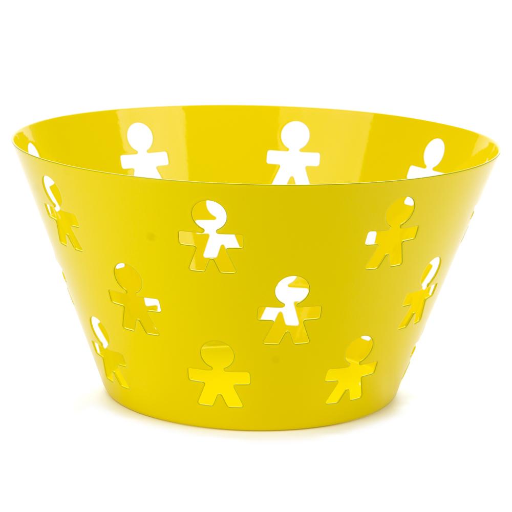 Alessi girotondo poplike large fruit bowl lemon - Alessi fruit bowl ...