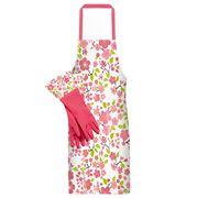 Ogilvies Designs - Cherry Blossom PVC Apron & Glove Set