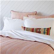 Linen & Moore - Ikat Queen Size Sheet Set White