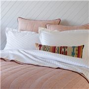 Linen & Moore - Ikat White Queen Bed Doona Cover Set