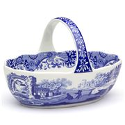 Spode - Blue Italian Basket with Handle